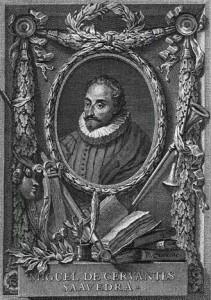 Frontespizio con Miguel de Cervantes